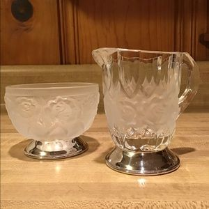 William Adams VTG  Crystal Creamer and  Sugar